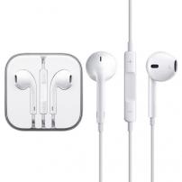 Słuchawki z mikrofonem i pilotem zdalnego sterowania dla urządzeń Apple - białe